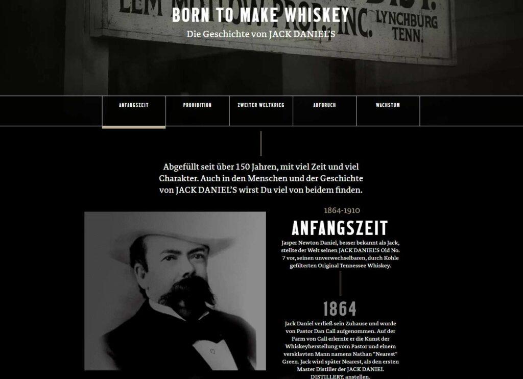 "Auszug aus ""Our Story"" von Jack Daniel's"