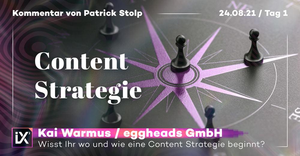 Grafische Darstellung eines Kompass; davor das Wort Content-Marketing