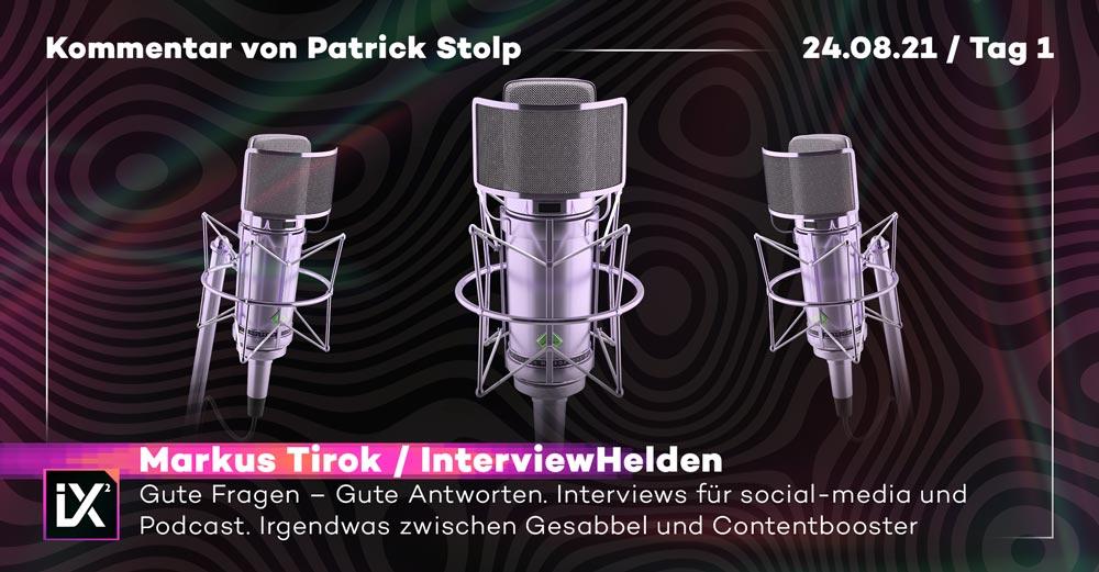 Drei Mikrofone für Interviews nebeneinander